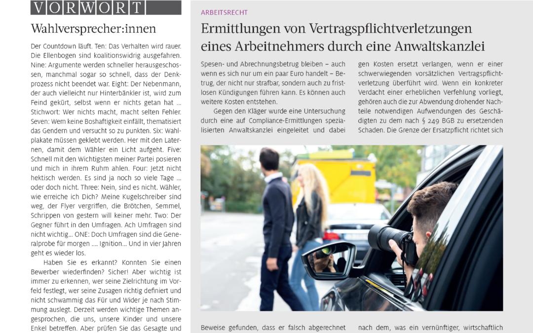 Advoselect News – Ausgabe 3/2021